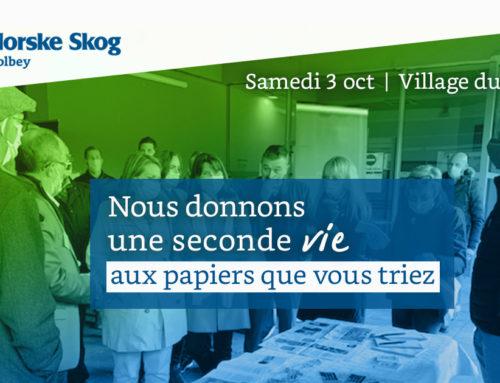 3 octobre 2020  |  Norske Skog Golbey a participé au Village du Recyclage, dans l'Ain