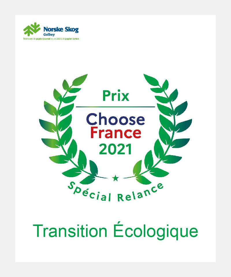 Norske Skog Golbey remporte le prix Transition écologique Choose France