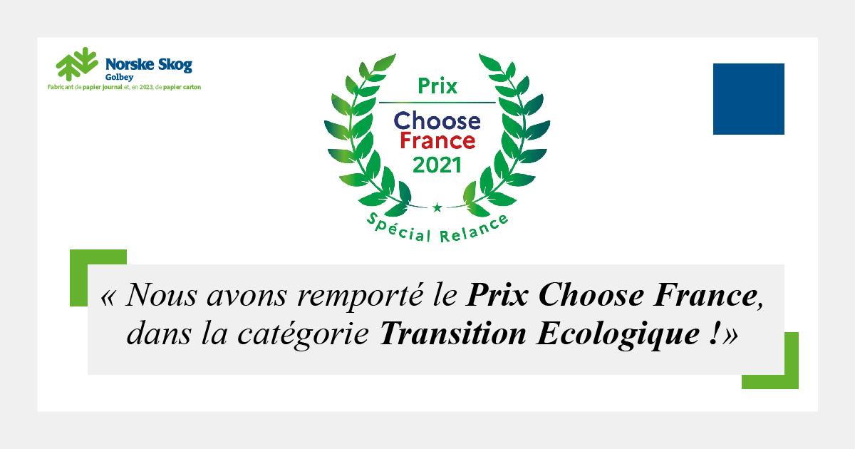 Norske SKOG Golbey remporte Prix Choose France